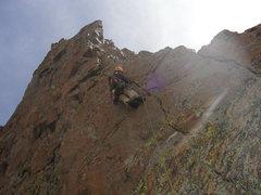Rock Climbing Photo: Ryan leading the last pitch.