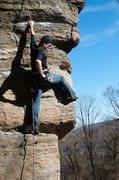 Rock Climbing Photo: Starting up the arete