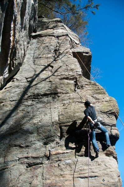 Rock Climbing Photo: Great 5.9! I'm bringing a 2nd rope to set up an an...