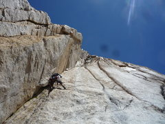 Rock Climbing Photo: P5 Variation -- the goods.  I backed off the lead ...