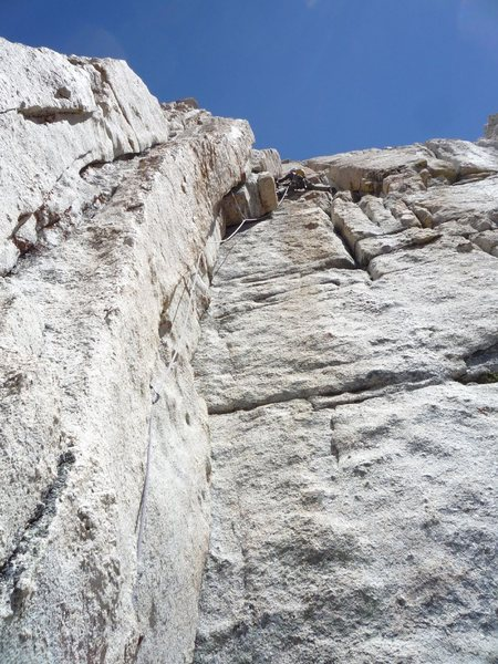 Rock Climbing Photo: Rob leading P4