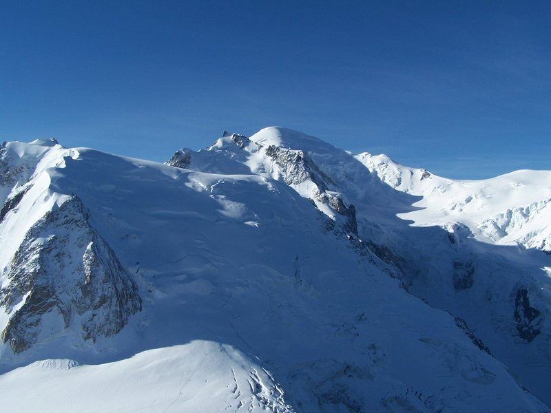 From the Aguille du Midi