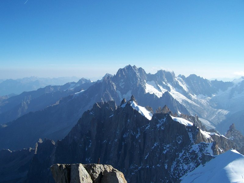 View from the Aguille du Midi