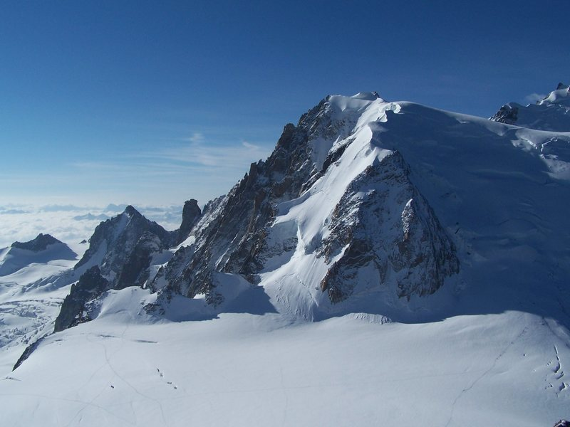 A view from the Aguille du Midi