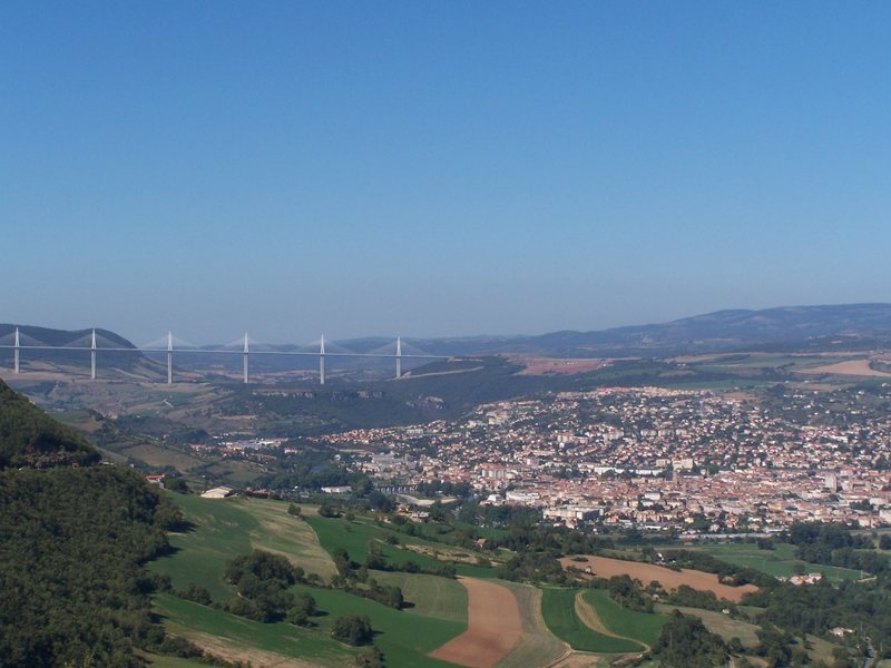 Town of Millau and the Millau Viaduct