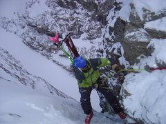 Rock Climbing Photo: Doug Avec Le Sac A do de La Meije