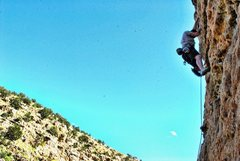 Rock Climbing Photo: Me at Jack's on a bluebird day.  Casino Cliffs.