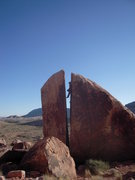 "Rock Climbing Photo: Red Rock, ""Plumber's Crack V0-1"""