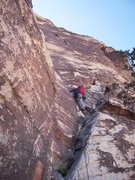 "Rock Climbing Photo: Red Rock, ""Frogland 5.8"""