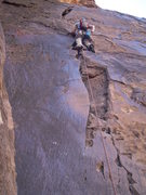 "Rock Climbing Photo: Red Rock, ""Dark Shadows 5.8"""