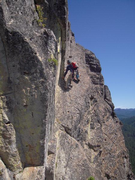 "Rock Climbing Photo: Acker Rock ""Peregrine Traverse 5.8"""