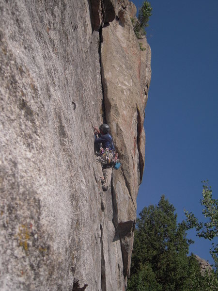 "Rock Climbing Photo: City of Rocks ""Funky Bolt 5.9"""