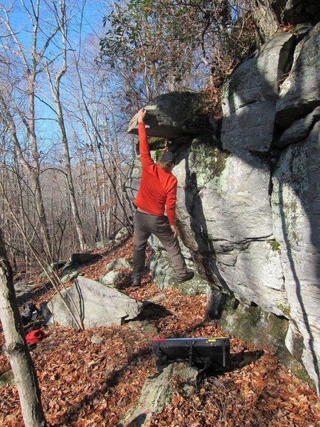 Rock Climbing Photo: That block is so money!