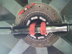 Rock Climbing Photo: Bottom of Shaft assembly as we raise a few tons of...