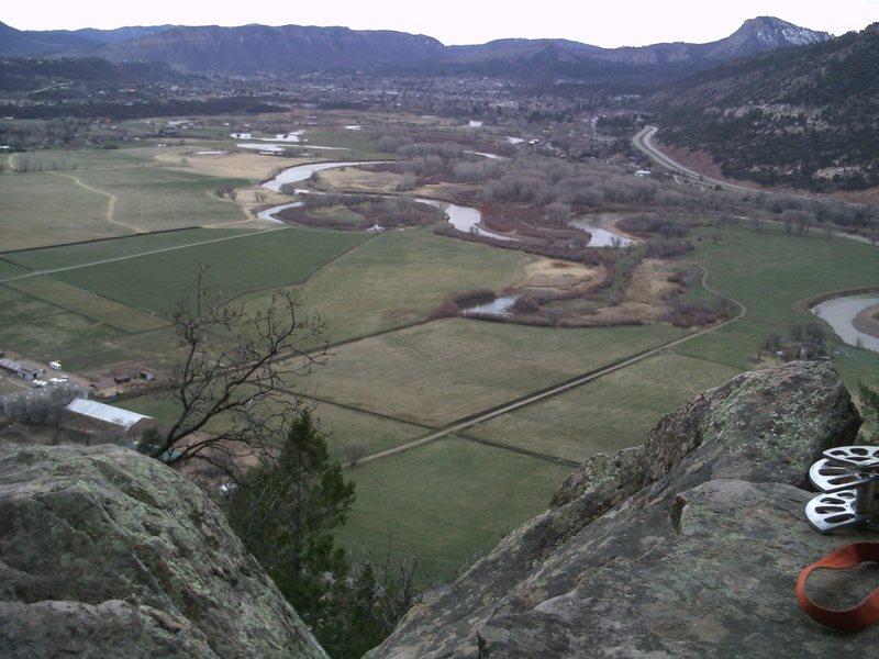 Rock Climbing Photo: Relaxing beneath Spike and Yosemite Crack.