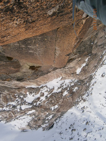 Rock Climbing Photo: the highlight of the route, from above