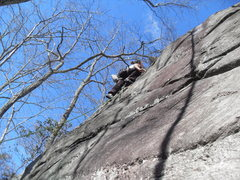 Rock Climbing Photo: slab move
