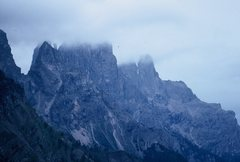 Rock Climbing Photo: Sass Maor and Cima della Madonna, wreathed in clou...