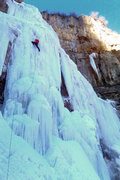 Rock Climbing Photo: Dan on the sharp end Stewart falls