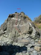 Rock Climbing Photo: IUD (5.9) showing the whole route.