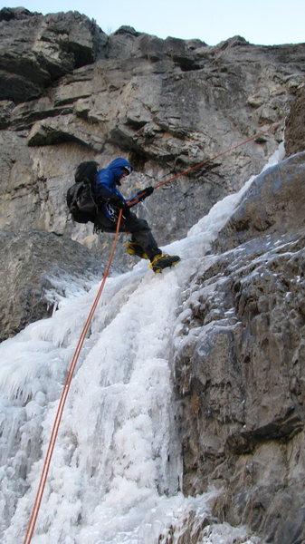 Rock Climbing Photo: Kirk on rappel