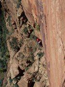 Rock Climbing Photo: Following last pitch.