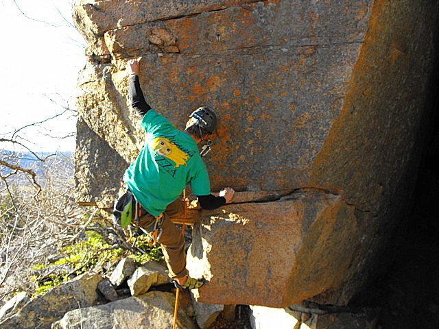 Rock Climbing Photo: Leviathan 5.11b