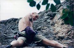 Rock Climbing Photo: Shark's Tooth - middle of climb.