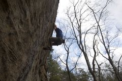 Rock Climbing Photo: On one of the good holds between hard moves. Not y...