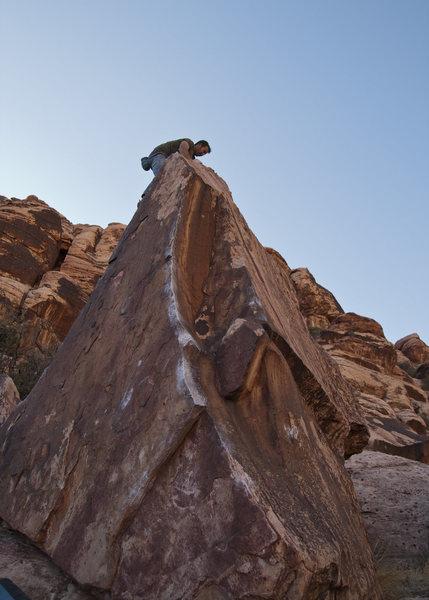 Climb the left arête