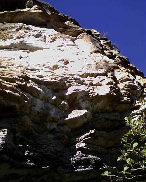 Rock Climbing Photo: Shady start to Genevieve the Jewel.