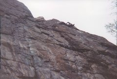 Rock Climbing Photo: Here is that 11c? on the right side of the wall. I...