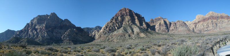 Rock Climbing Photo: panorama from the parking section