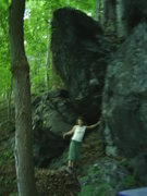 Rock Climbing Photo: The Tallon boulder - poor quality obviously.