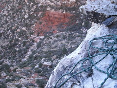 Rock Climbing Photo: a little look right at the shelve a middle pitch o...