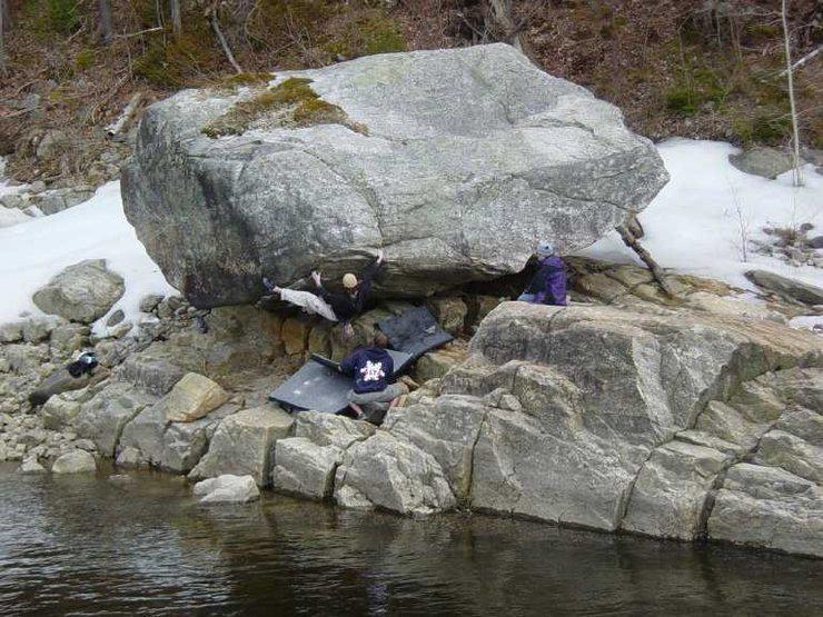 Rock Climbing Photo: Lisbon Fall Boulder
