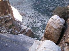 Rock Climbing Photo: looking down the fourth pitch, dirty son of a cinc...