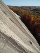 Rock Climbing Photo: G-man following pitch 2 on a perfect fall day