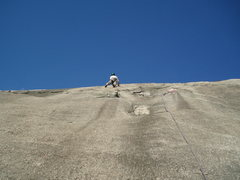 Rock Climbing Photo: Leading the 3rd pitch