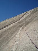 Rock Climbing Photo: Richard leads pitch 2