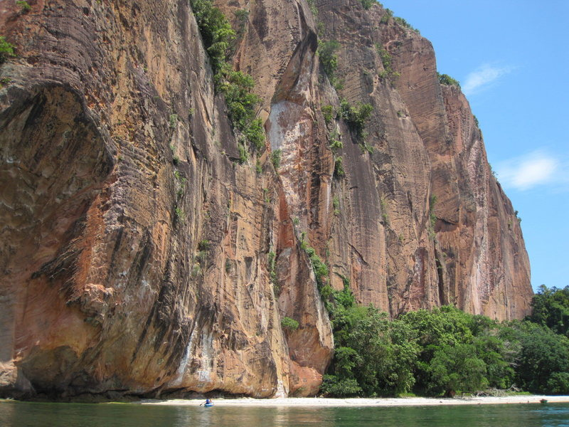 """Rock Climbing Photo: The Beautiful """"Beach"""" climbing area."""