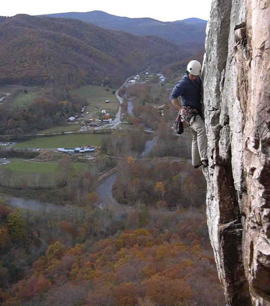 Rock Climbing Photo: Kent shot of me, Crack of Dawn 10a Seneca Rock WVA