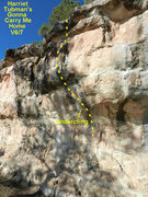 Rock Climbing Photo: Harriet topo.