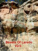 Rock Climbing Photo: Streets of Laredo topo.