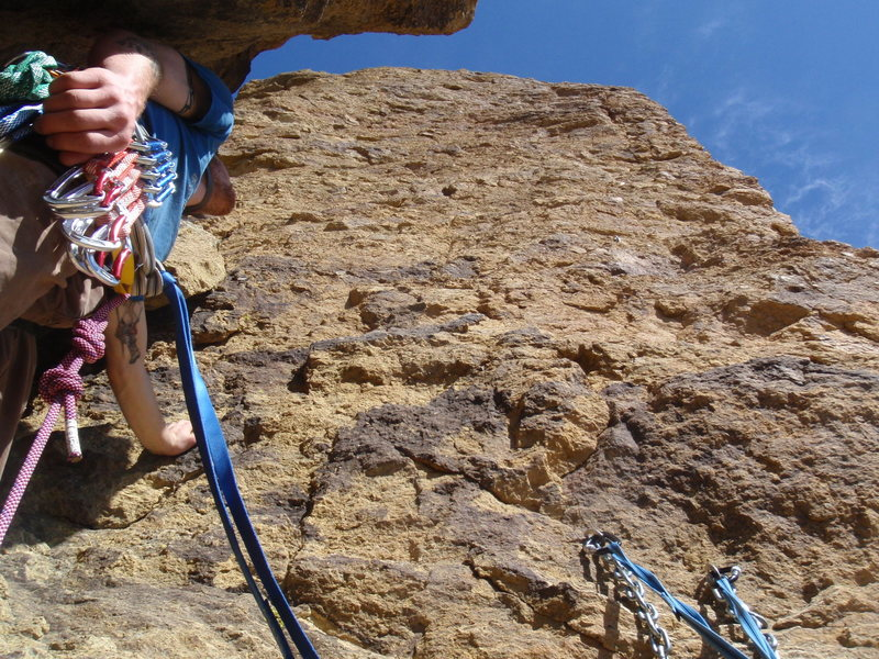 "Third pitch on ""Voyage of the Cow Dog"" at Smith Rock"