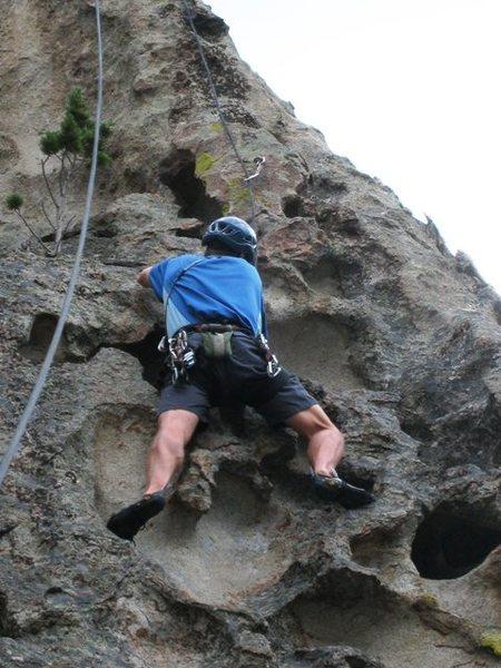 Rock Climbing Photo: Eric Hobday enjoying the large holds on High Cente...
