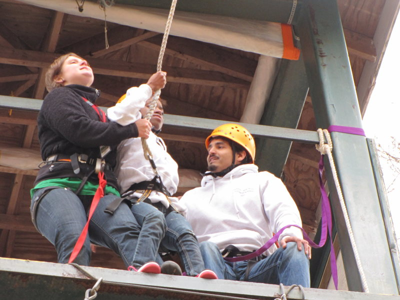 Rock Climbing Photo: Teaching my kids about fear