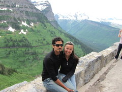 Rock Climbing Photo: My Girl and I at Glacier National Park. So Lush!