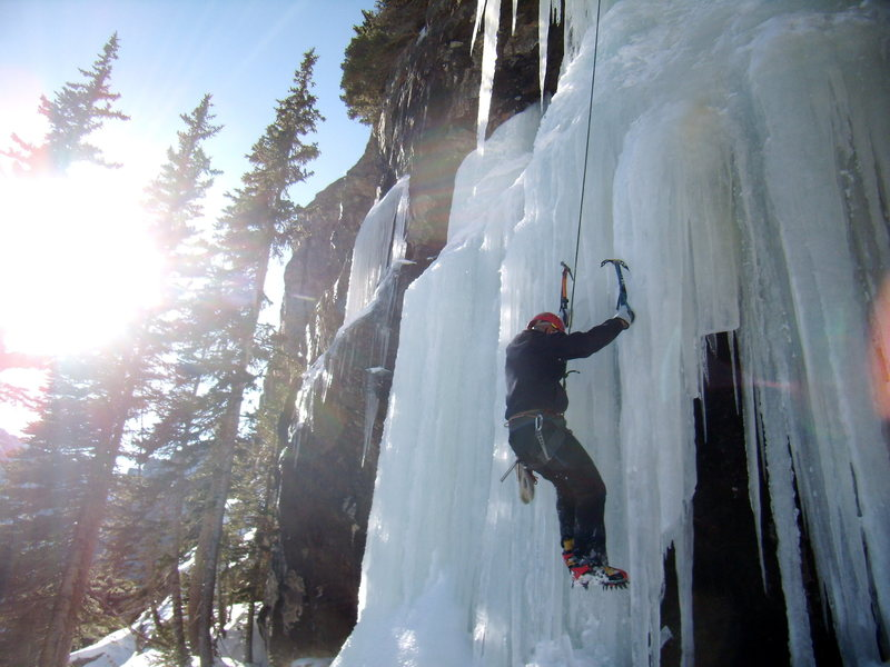 Rock Climbing Photo: Great day in the park.  The Crypt WI 4 With Mike C...