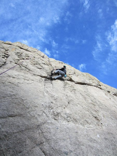 "Rock Climbing Photo: Justin Dobbins laybacking the ""Beaver"""